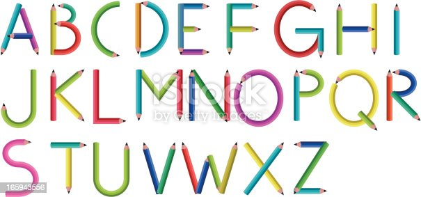 istock Pencil Letters 165943556