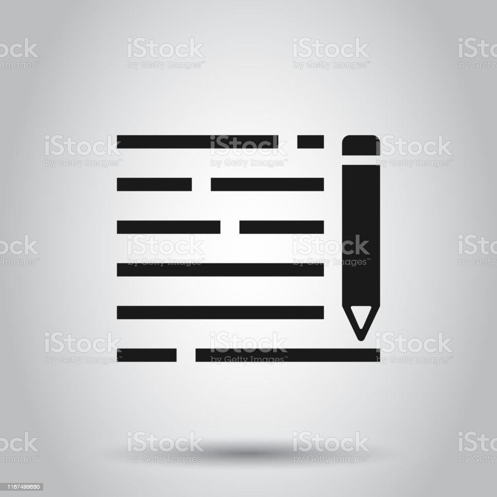 Ilustración De Icono Del Bloc De Notas Del Lápiz En Estilo