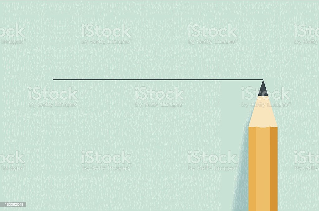 Pencil on background royalty-free stock vector art