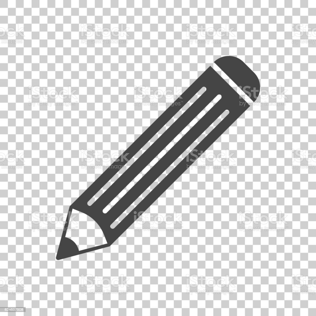 pencil pictogram icon simple flat illustration for business