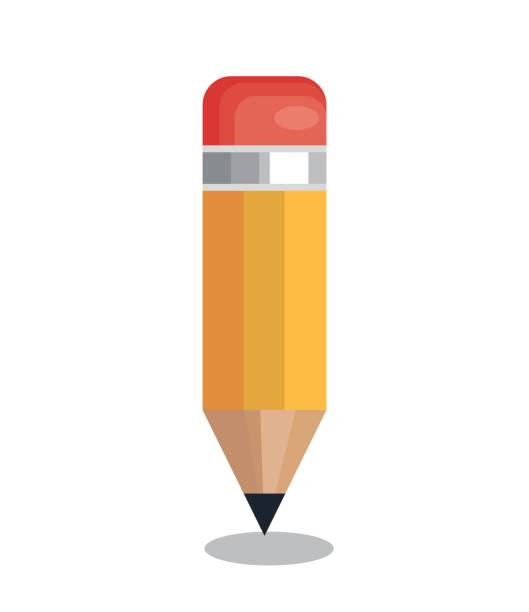 pencil school supply isolated icon - ołówek stock illustrations