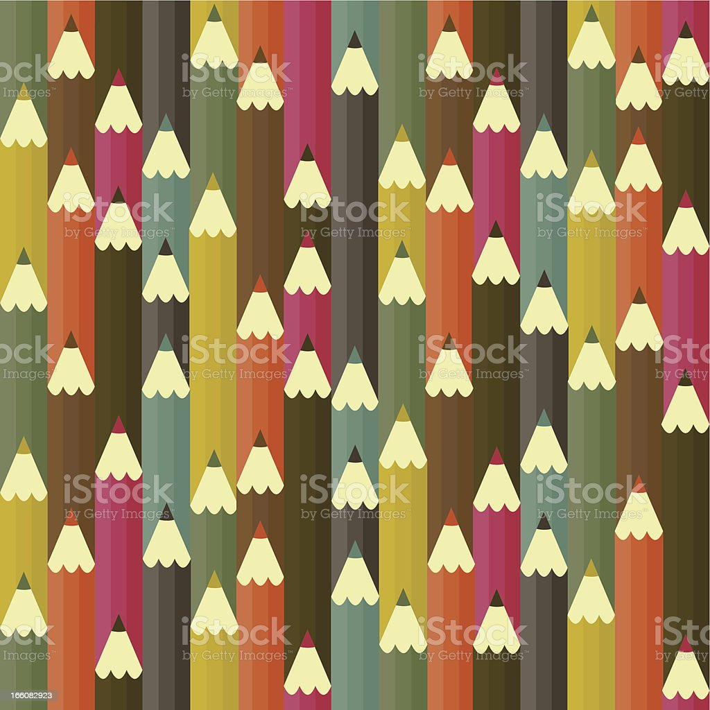 Pencil seamless pattern vector art illustration