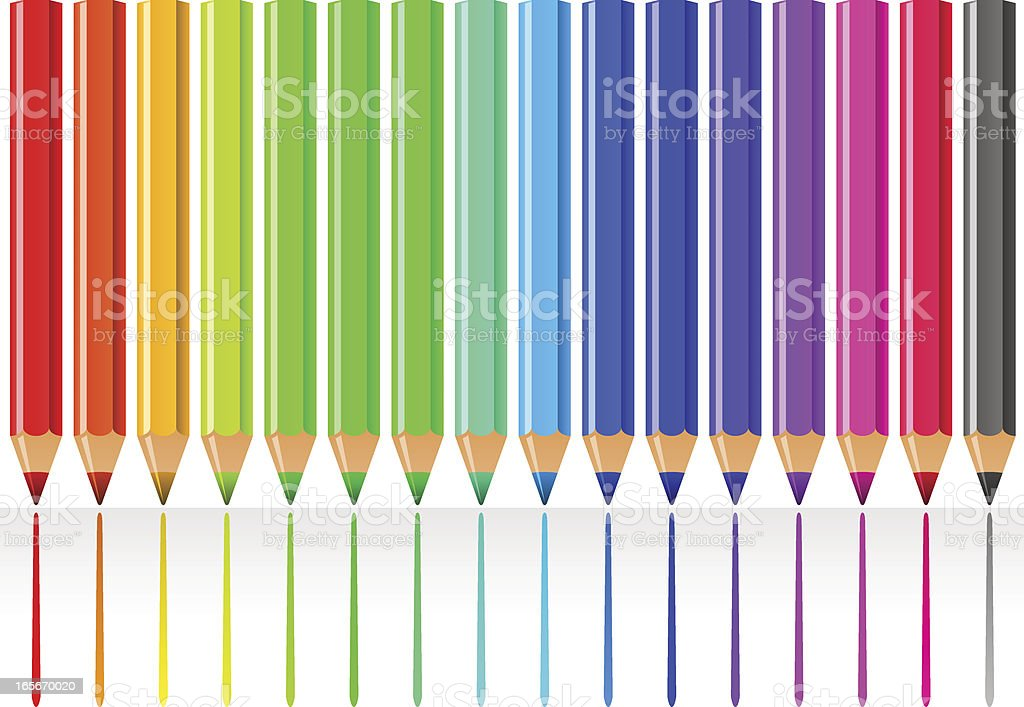 Pencil spectrum royalty-free pencil spectrum stock vector art & more images of arts culture and entertainment