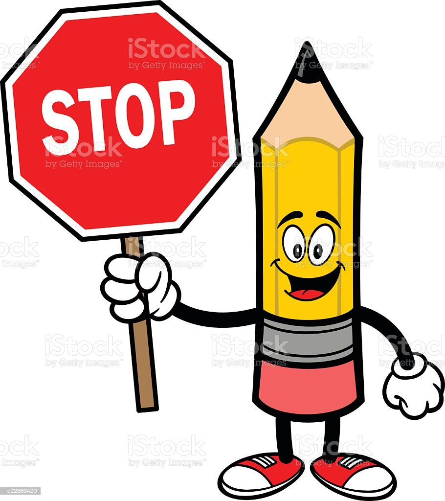 drawing of octagon stop sign clip art vector images