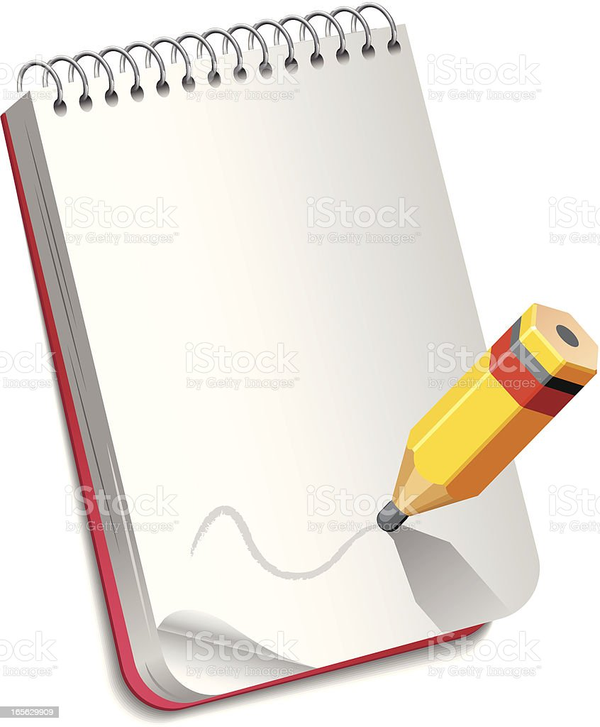Pencil with notebook royalty-free stock vector art