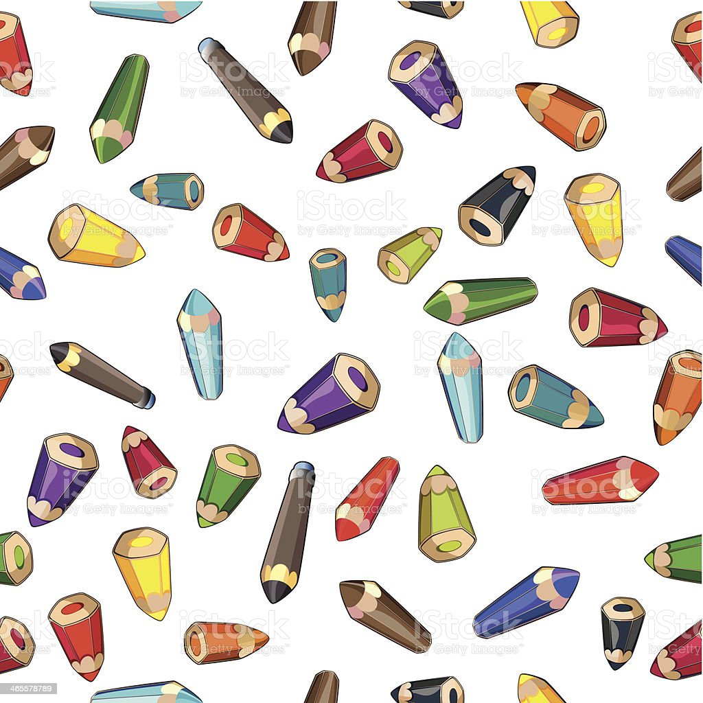 Pencils, seamless texture royalty-free stock vector art