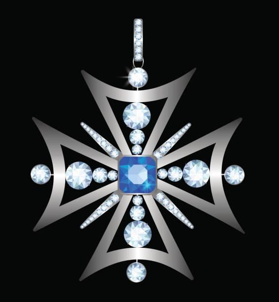 anhänger mit diamant - hochzeitsanstecker stock-grafiken, -clipart, -cartoons und -symbole