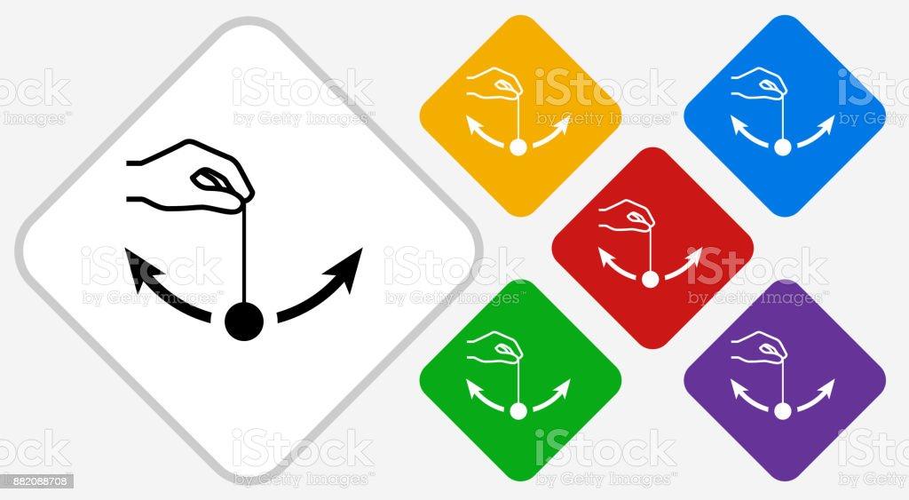 Pendulum Color Diamond Vector Icon vector art illustration