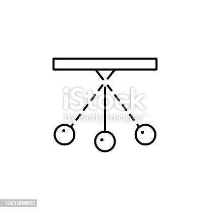 pendulum icon. Element of physics science for mobile concept and web apps icon. Thin line icon for website design and development, app development on white background