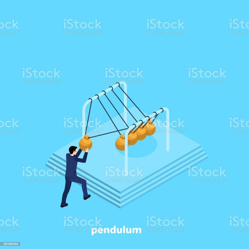 pendulum vector art illustration