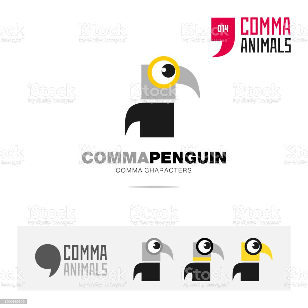 Penguin Bird Concept Icon Template For Modern Brand Identity And App