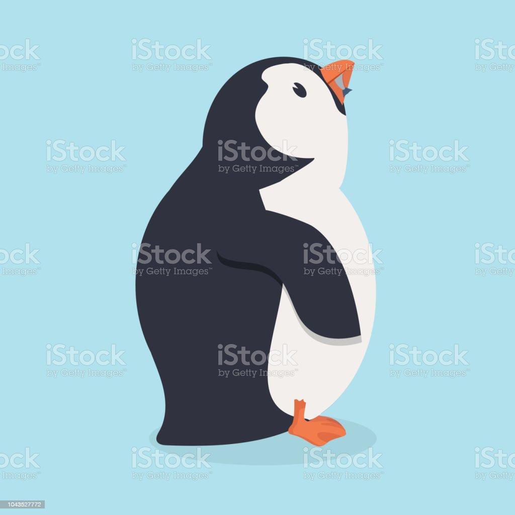 Pinguin Vogel Fisch Essen Stock Vektor Art und mehr Bilder von ...