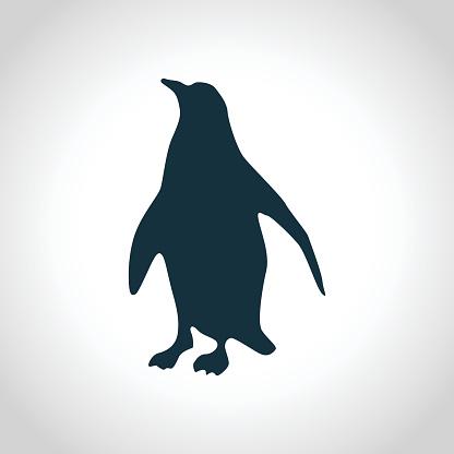Penguin black silhouette