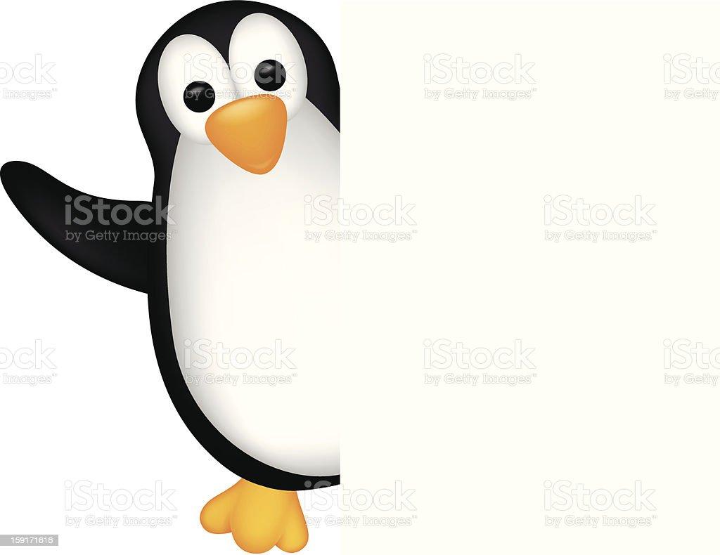 Pinguincartoon Mit Leere Schild Stock Vektor Art und mehr Bilder von ...