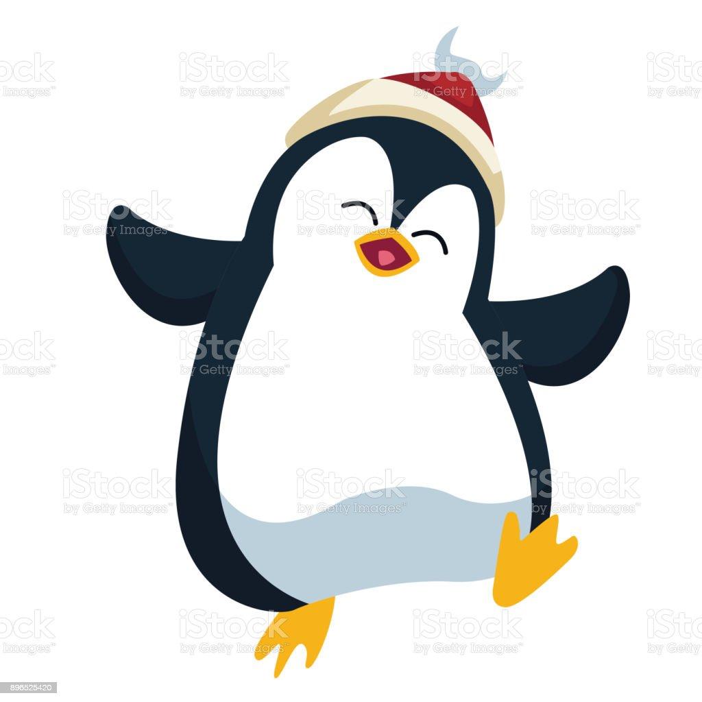 Ilustración De Dibujos Animados De Navidad Pingüino Y Más Vectores