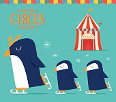 Circus show with Penguin