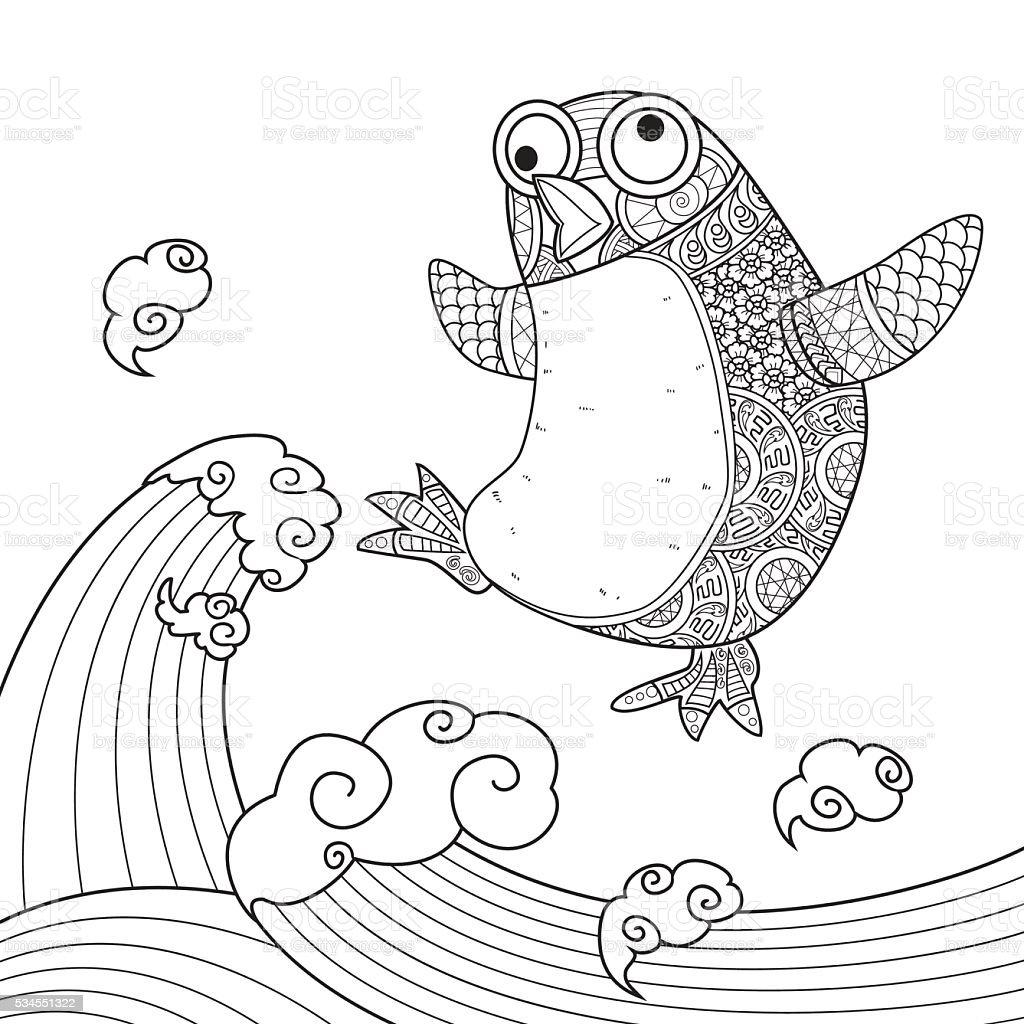 Ilustración de Pingüino Lindo y más banco de imágenes de Agua ...