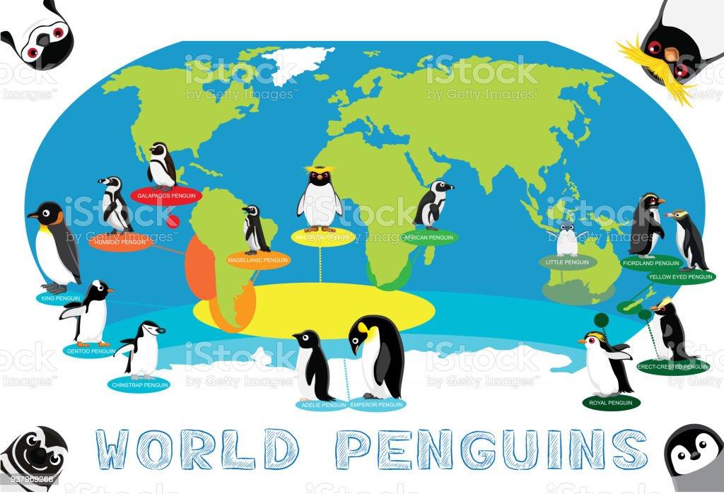 Penguin distribution world map cartoon vector stock vector art penguin distribution world map cartoon vector royalty free penguin distribution world map cartoon vector stock gumiabroncs Gallery