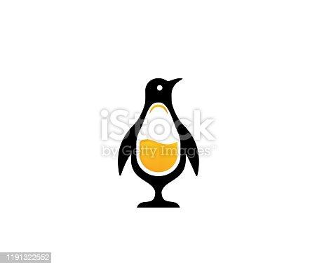 istock Penguin drinks juice fresh vector 1191322552