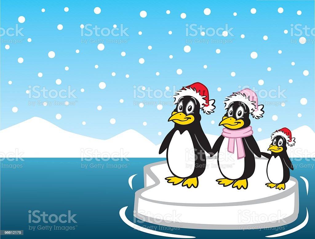 Penguin Family - Royaltyfri Antarktis vektorgrafik
