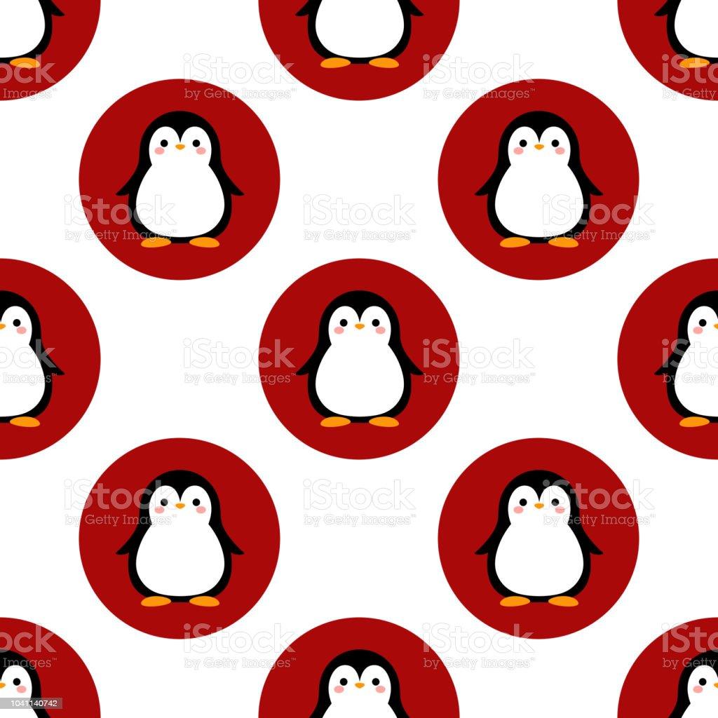 Ilustración de Patrón Pingüino Animal Fondo De Invierno y más banco ...