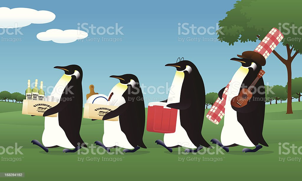 penguin picnic royalty-free penguin picnic stock vector art & more images of blank expression