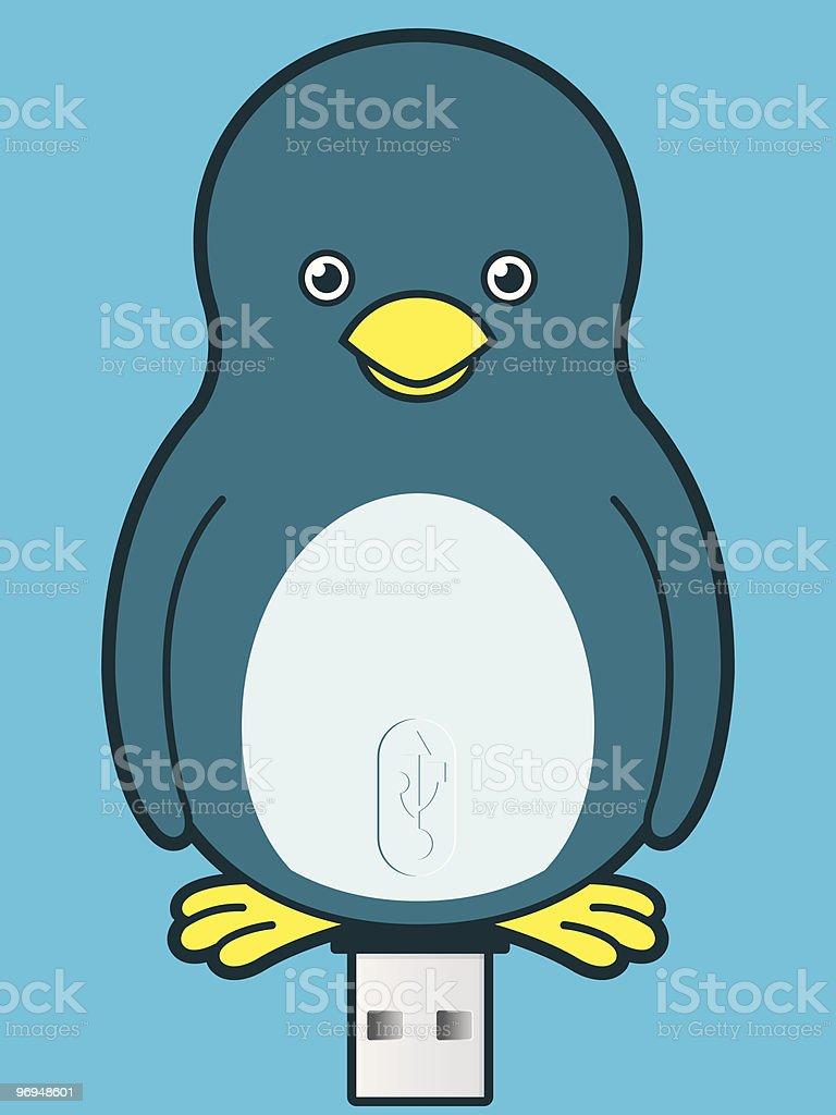 Penguin USB memory stick royalty-free penguin usb memory stick stock vector art & more images of animal