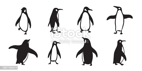 penguin vector icon logo cartoon character fish salmon illustration doodle