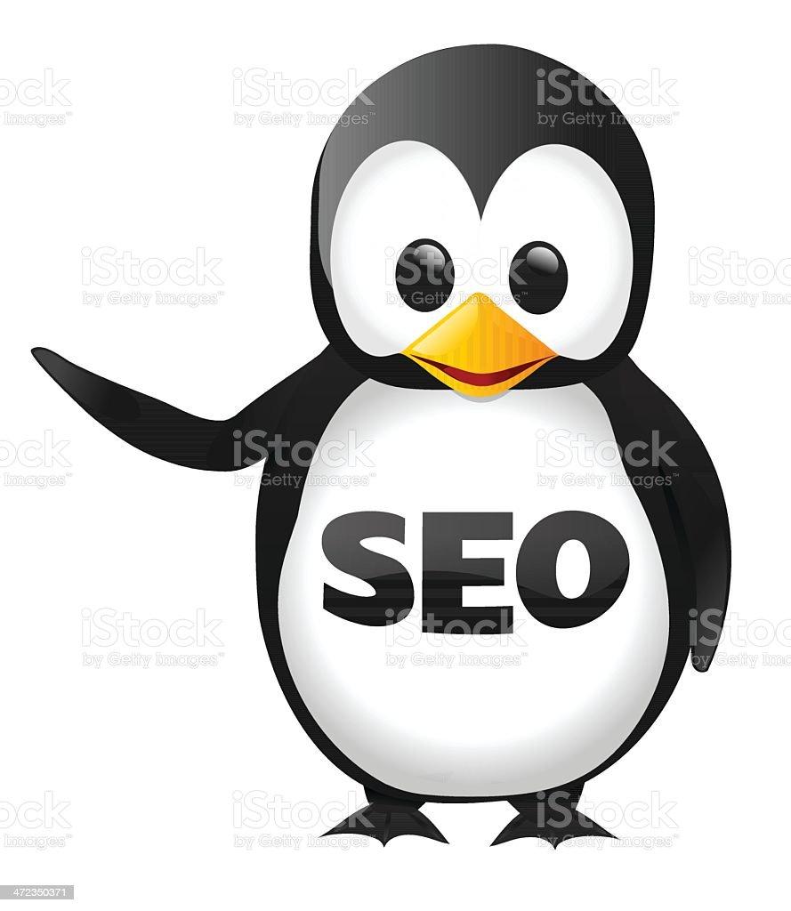 SEO Penguin vector art illustration