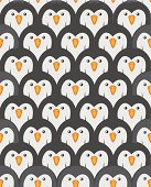 Group of penguins pattern