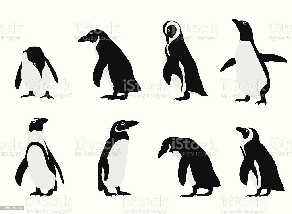 penguins vector silhouette stock vector art & more images of animal