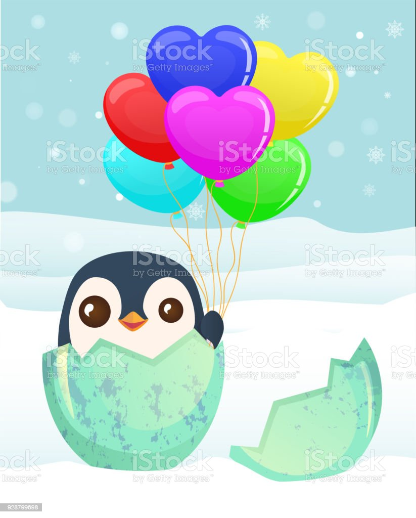 Penguins With Christmas Gifts Stock Vector Art & More Images of ...