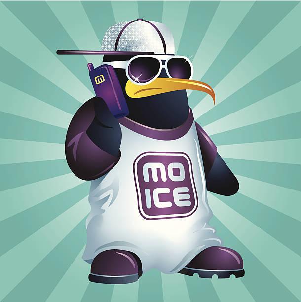 Penguizzle a.k.a. Mo Ice vector art illustration