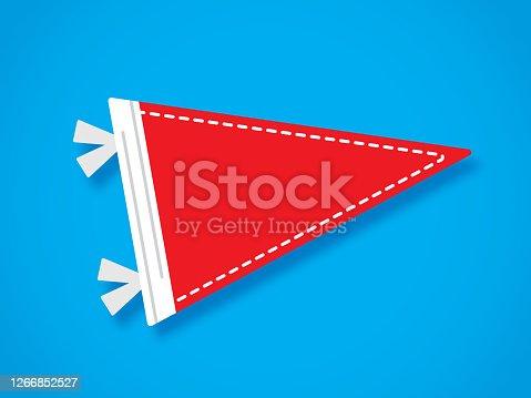 istock Pennant Flag Flat 1266852527
