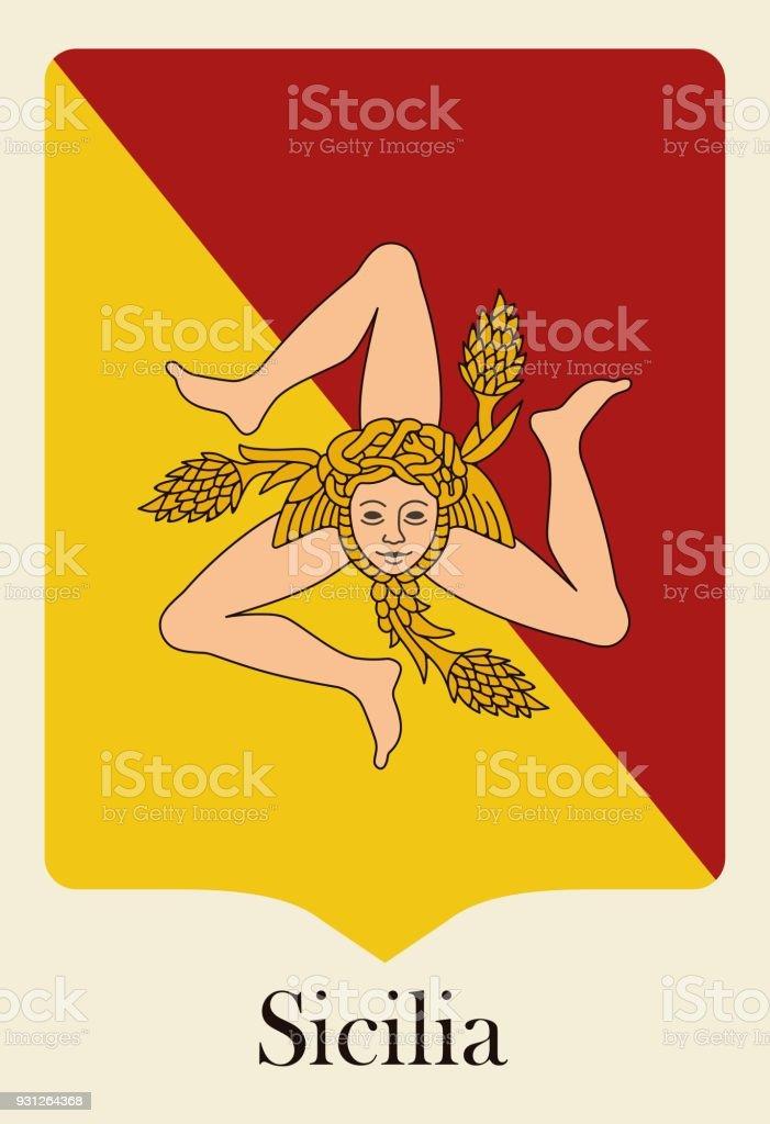 sizilianische flagge