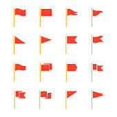 Pennants and flags set