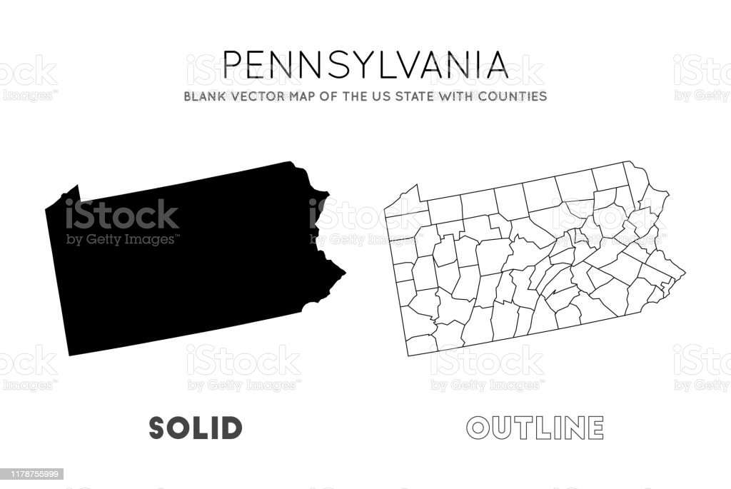 Pennsylvania Map Stock Illustration Download Image Now Istock