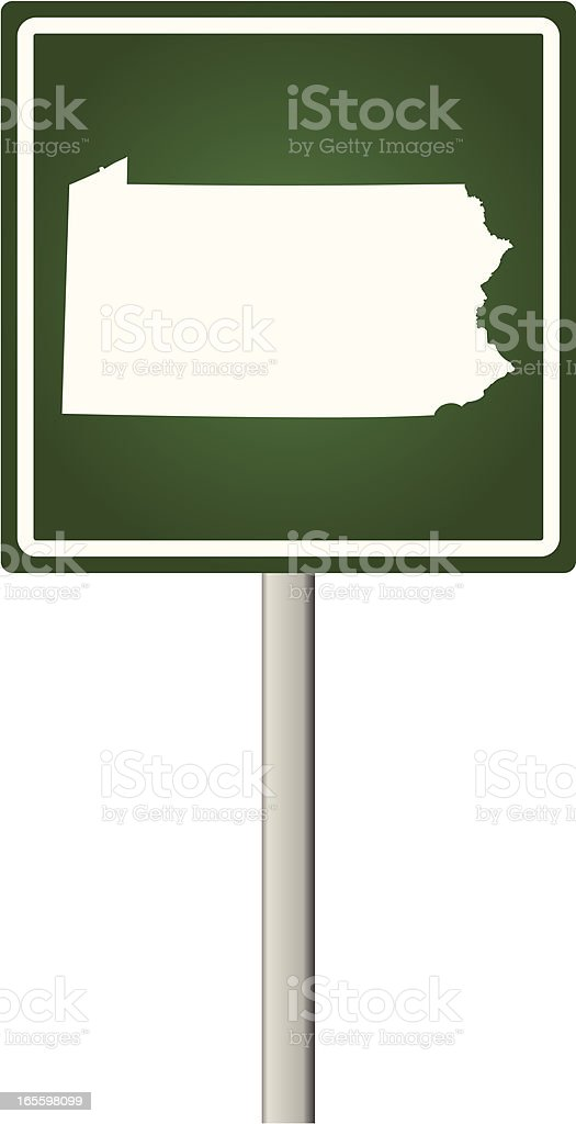 Pennsylvania Sign royalty-free pennsylvania sign stock vector art & more images of illustration