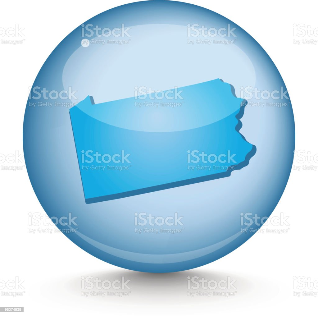 Pennsylvania - Sphere State Series royalty-free pennsylvania sphere state series stock vector art & more images of blue