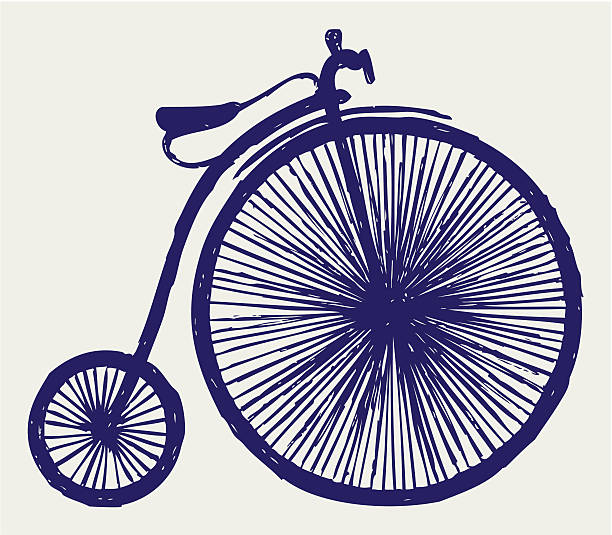 Man on a penny farthing bicycle Royalty Free Vector Clip Art illustration  -peop0031-CoolCLIPS.com