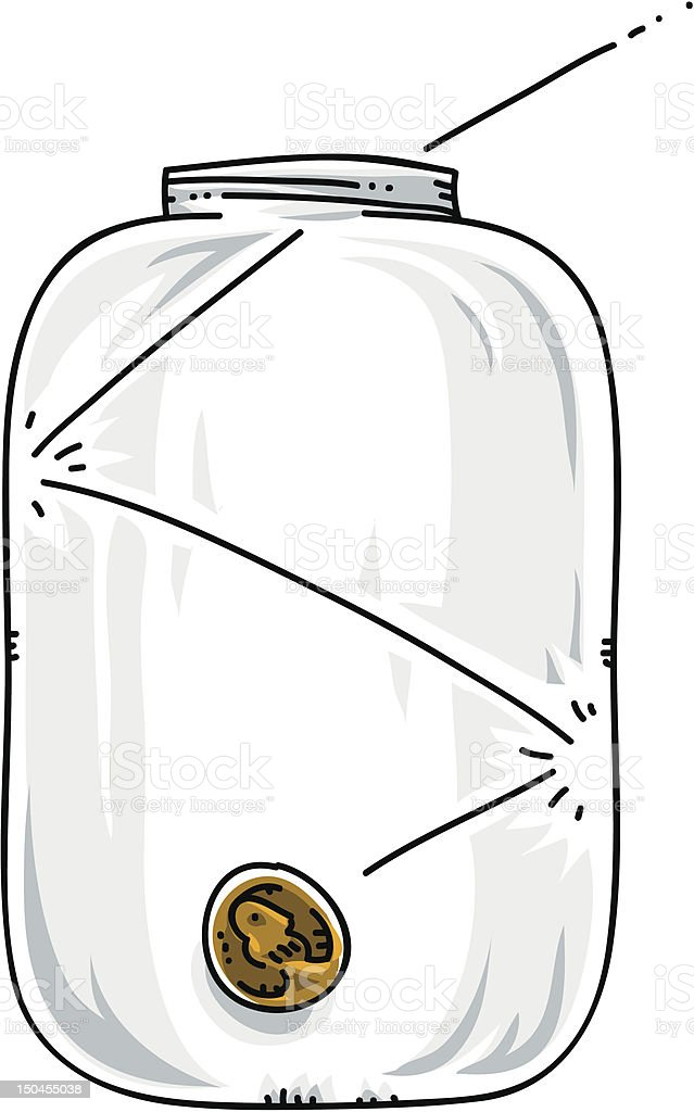 Penny Jar royalty-free stock vector art