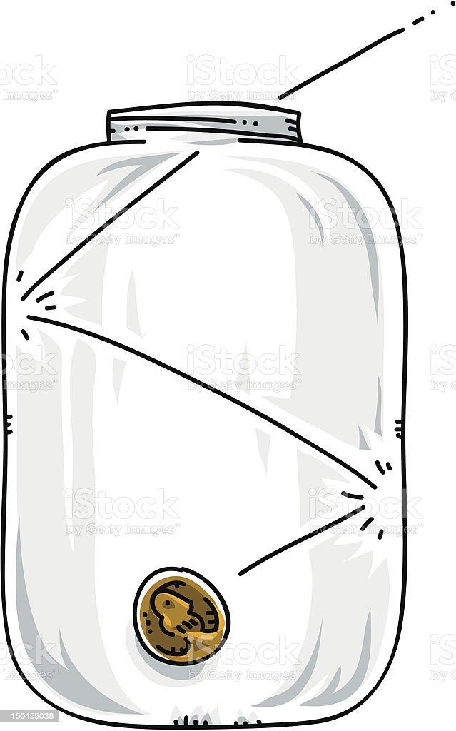 Penny Jar vector art illustration
