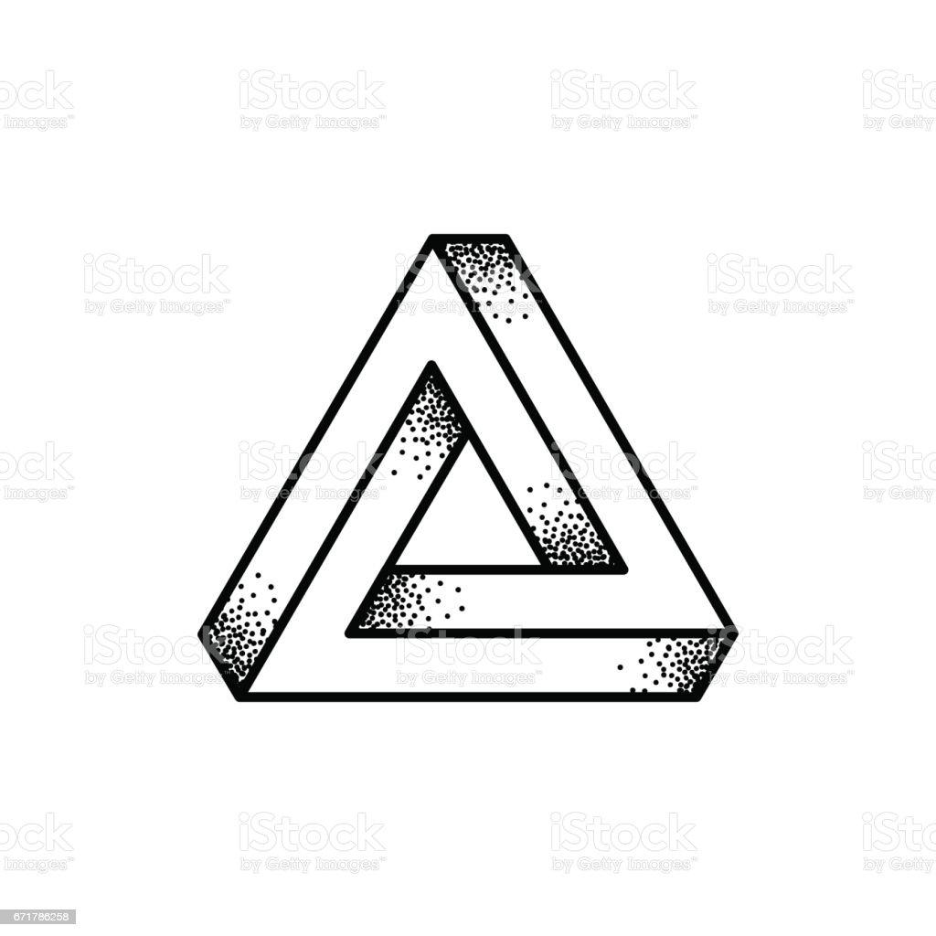 ペンローズの三角形の図 - 3Dの...
