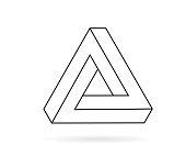 Penrose triangle line icon