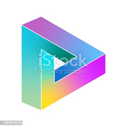 Vector illustration of the impossible penrose triangle