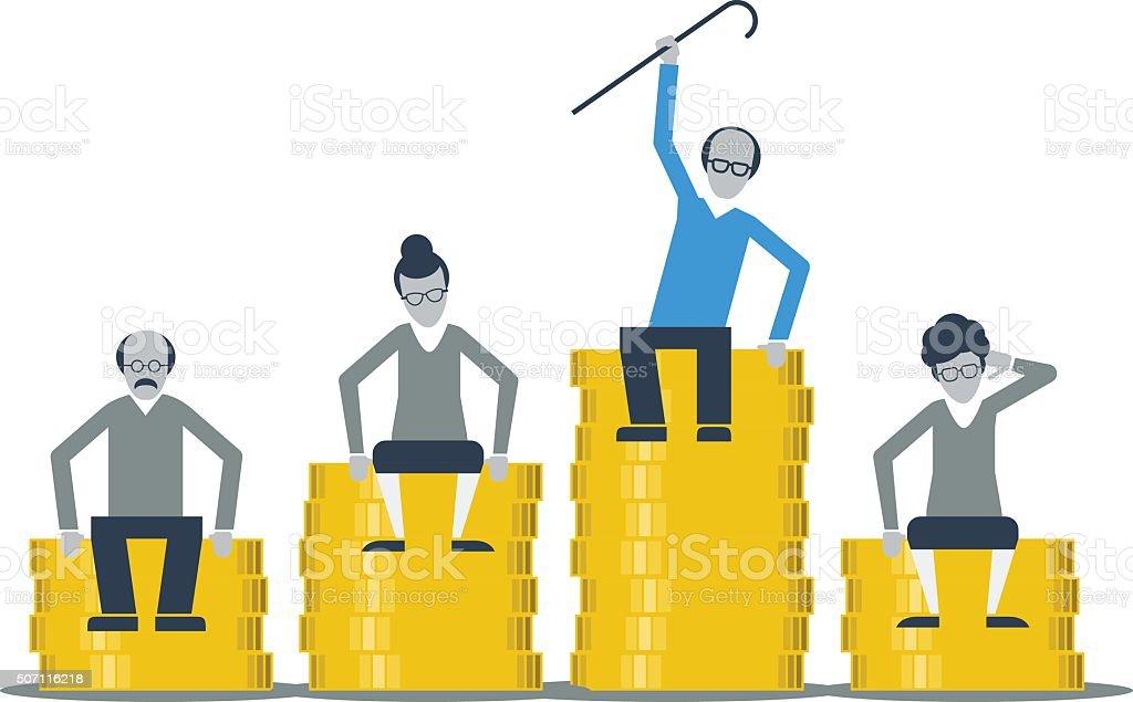 Pension savings vector art illustration