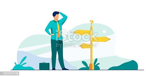 istock Pensive businessman making decision 1224523133