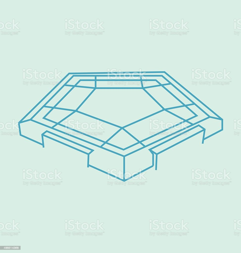 Pentagon Colored Line Illustration Stock Vector Art More Images Of - Pentagon picnic table