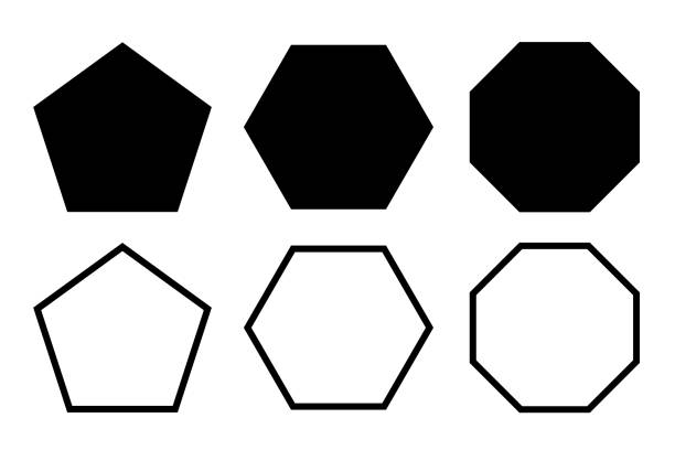 Pentagon, hexagon, octagon icon. Vector geometry polygon. Vector illustration. hexagon stock illustrations