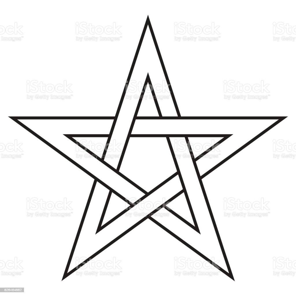 Pentagram five end star with weave sides sector symbol dark forces pentagram five end star with weave sides sector symbol dark forces royalty free pentagram buycottarizona